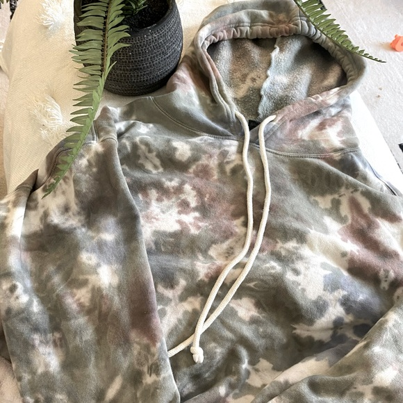Wild Fable Cropped Tie Dye Hoodie